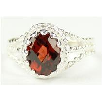SR070, Mozambique Garnet, 925 Sterling Silver Ring
