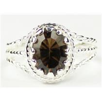Smoky Quartz, 925 Sterling Silver Ring, SR070