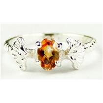 SR192, Twilight Fire Topaz, 925 Sterling Silver ring