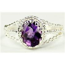 Amethyst, 925 Sterling Silver Ring, SR070