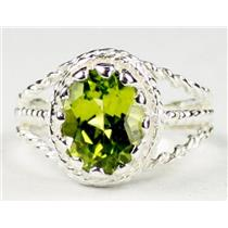 Peridot, 925 Sterling Silver Ring, SR070