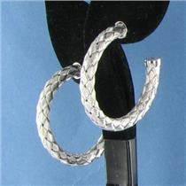 Roberto Coin 5th Season Woven Hoop Earrings 925 Sterling Silver New $485