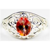 SR111, Twilight Fire Topaz, 925 Sterling Silver Ring