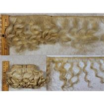 "mohair weft  coarse undyed / unglazed Curly hair 5-7 x 200"" 25565  FP"