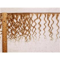 "mohair weft coarse golden blonde 16 curly weft 7-9x200"" 90-100g 25588 FP"