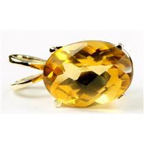 P004, Citrine 14k Gold Pendant