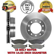FRONT BRAKE ROTORS & BRAKE PADS F-SERIES SUPER DUTY 10 BOLT ROTOR