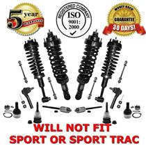 Suspension Kit Strut & Coil Spring Assembly + Tie Rods + Ball Joints + Links