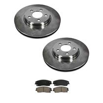 (2) 53022 320MM 12.5 Inch Front Disc Brake Rotor With CD1056 Ceramic Pads