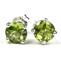 Peridot, 925 Sterling Silver Earrings, SE012
