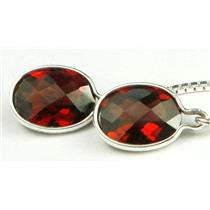 SE005, Mozambique Garnet, 925 Sterling Silver Earrings