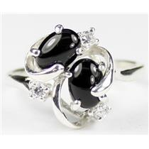 SR016, Black Onyx, 925 Sterling Silver Ring