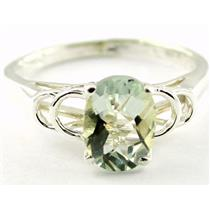 SR300, Green Amethyst, 925 Sterling Silver Ring