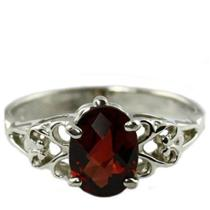 SR302, Mozambique Garnet,  925 Sterling Silver Ring