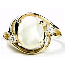 R021, Mother of Pearl, Gold Ring