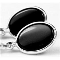 SE001, Black Onyx, 925 Sterling Silver Earrings