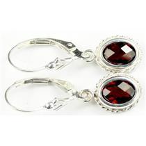 SE006, Mozambique Garnet, 925 Sterling Silver Rope Earrings