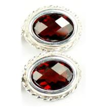 SE006, Mozambique Garnet, 925 Sterling Silver Rope Earrings