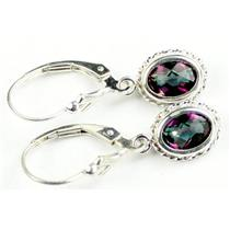 SE006, Mystic Fire Topaz, 925 Sterling Silver Rope Earrings