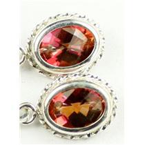 SE006, Twilight Fire Topaz, 925 Sterling Silver Rope Earrings