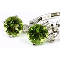 SE017, Manchurian Peridot, 925 Sterling Silver Earrings