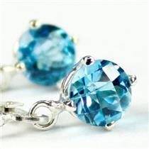 SE017, Swiss Blue Topaz, 925 Sterling Silver Earrings