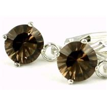 SE017, Smoky Quartz, 925 Sterling Silver Earrings