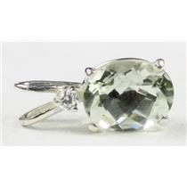 SP020, Green Amethyst, 925 Sterling Silver Pendant