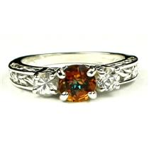 SR254, Twilight Fire Topaz w/ Accents, Sterling Silver Ring
