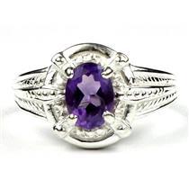 SR284, Amethyst, 925 Sterling Silver Ring