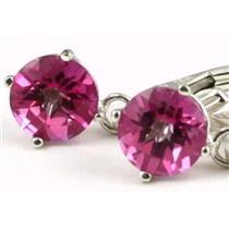 SE017, Pure Pink Topaz, 925 Sterling Silver Earrings