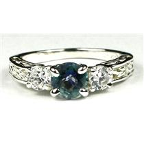 SR254, Neptune Garden Topaz w/ Accents, Sterling Silver Ring