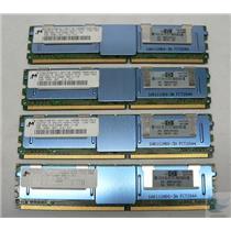LOT OF 4 SERVER RAM -Micron 2GB 2Rx4 ECC PC2-5300F-555-11 MT36HTF25672FY-667F1N6