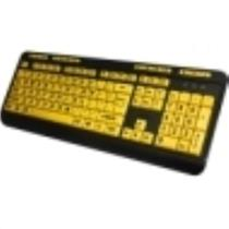 Adesso EasyTouch 132 Florescent Yellow Multimedia Desktop Keyboard AKB-132UY