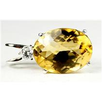 SP019, Citrine 925 Sterling Silver Pendant