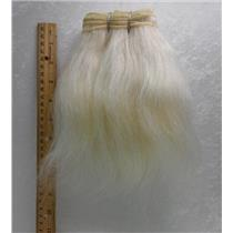 "Ox hair weft coarse undyed color 60 straight By the yard 7-9 x 36"" 25733 yardage"