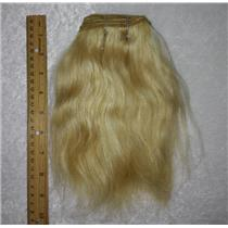 "Ox hair weft coarse blonde 25 ox straight By the yard 7-9 x 36"" 25737 yardage"