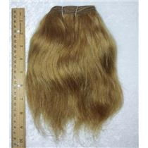 """Ox hair weft coarse Brown 12  straight By the yard 7-9 x 36"""" 25741 yardage"""