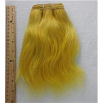 "Ox hair weft coarse Yellow  straight By the yard 7-9 x 36"" 25745 yardage"