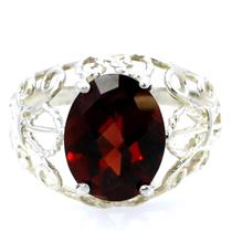 SR162, Mozambique Garnet, 925 Sterling Silver Ring