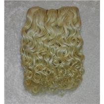 "mohair weft coarse blonde 613 curly weft 7-9x200"" 90-100g 25766 FP"