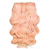 "Light Pink wavy mohair weft coarse 6- 8"" x 50"" QP  25782"