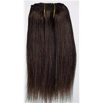 "Dark Brown 3 straight mohair weft coarse 6-8"" x100"" 26613 HP"