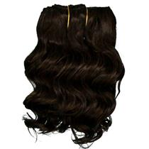 "Dark Brown 3 wavy mohair weft coarse 6- 8"" x 50"" QP  26319"