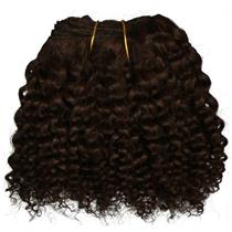 "Dark Brown 3 bebe curl - tight curl - mohair weft coarse  6-8"" x200""  26625  FP"