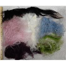 1 oz of Tibetian lamb skin doll hair  mixed colors 25858