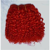 "Red bebe curl - tight curl - mohair weft coarse  6-8"" x200""  25899  FP"