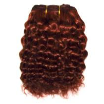 "Dark red 130 mohair weft coarse curly weft 7-9x200"" 90-100g 25986 FP"