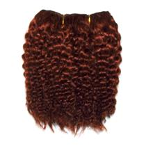 """Dark red 130 bebe curl  tight curl  mohair weft coarse  6-8""""x200"""" 25989 FP"""