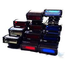 Lot of 11 Whelen DMP1S 12-24VDC Dashlight 5x Red 2x White 4x Blue GUARANTEED